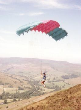 An Early Paraglider On The Brink, Derbyshire (S.Kerr)